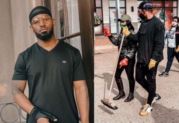 Prince Kaybee joins Govt official Mbali in cleaning the streets (Photos)