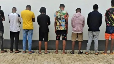 PHOTOS: 16 suspected internet fraudster arrested in Enugu