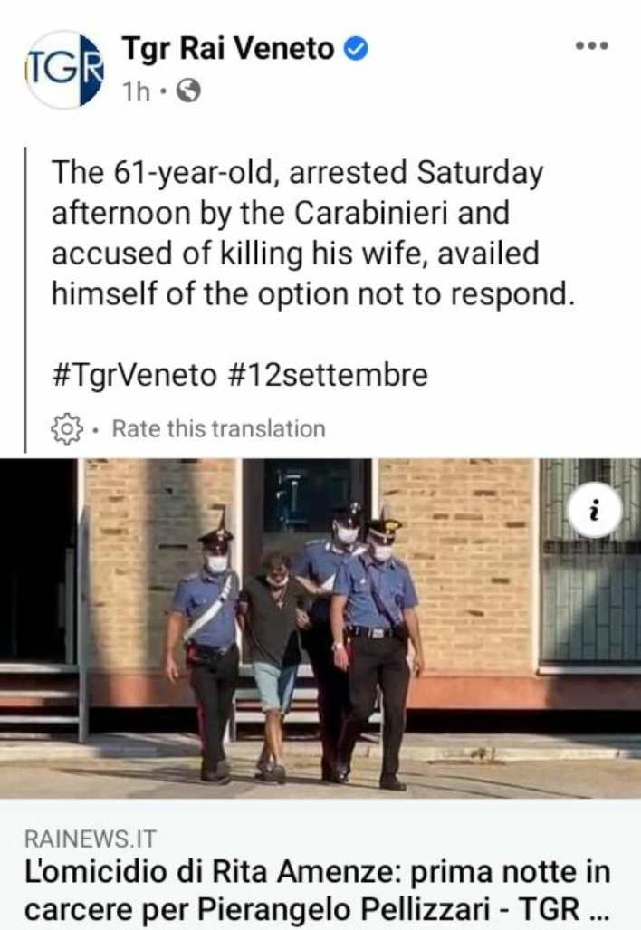 Update: Italian man who killed his Nigerian wife arrested after 30 hours on the run