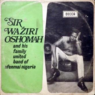 Sir Waziri Oshomah And His Family United Band Of Afenmai Nigeria album lp - afrosunny