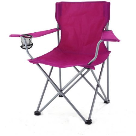 folding chairs walmart ikea armchair covers ozark chair with cupholder only 5 raspberry
