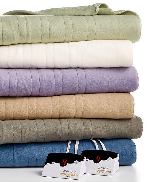 Macys: Biddeford Comfort Knit Fleece Heated Blankets As Low As $47.59 After Rebate