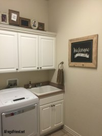 Shabby Chic Laundry Room Makeover on a Budget - Finding Debra