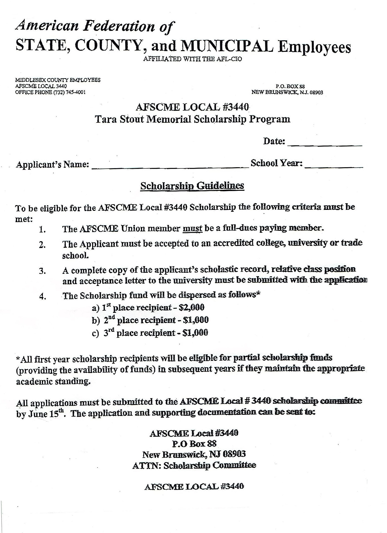 Afscme | Scholarships