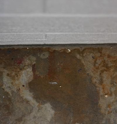 wet basement floor