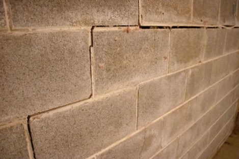 Cracked bowing foundation wall