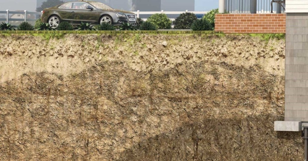 soil layers under homes