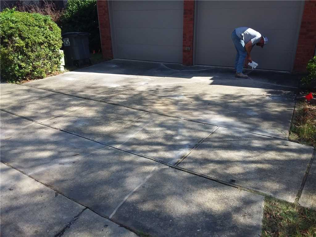 after lifted concrete