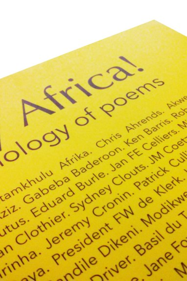 Detail of the poetry anthology, Africa My Africa