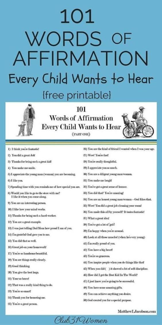 101 kata positif yang setiap anak ingin dengar
