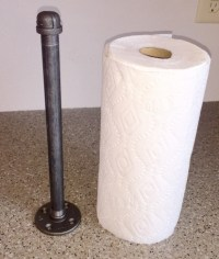 "Industrial Black Pipe Paper Towel Holder ""DIY"" Kit, Free"