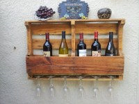 Recycled Pallet Board Wine Rack | aftcra