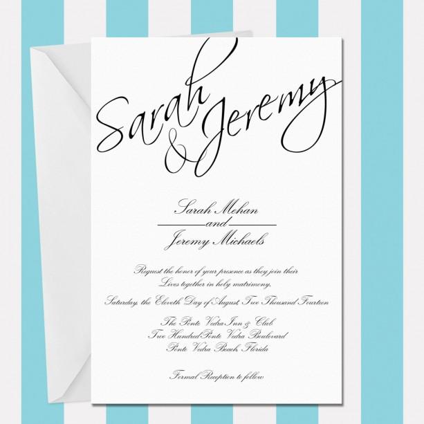 Wedding Invitation Typography Template