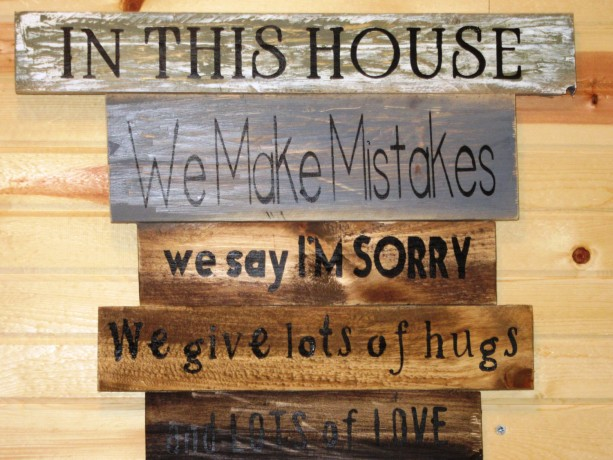 Personalized Wood Signs Home Decor