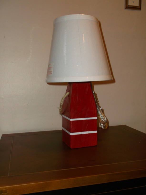Nautical Lobster Buoy Lamp Made in Maine Comes with Lamp
