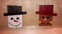 Reversible snowman scarecrow, pallet decoration, wall