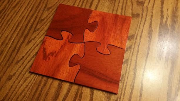 Wooden Puzzle Piece Coasters Aftcra