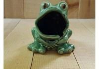 Ceramic Frog Kitchen Scrubby/ Sponge Holder w/ ring keeper ...