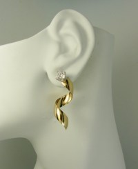 Gold Earring Jackets For Studs Pave Diamond Earring ...