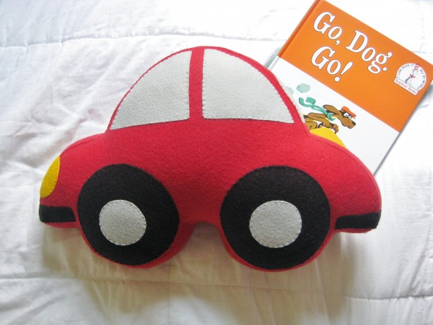large felt car shaped pillow boy s room decor baby nursery decor transportation children s room decorative throw pillow