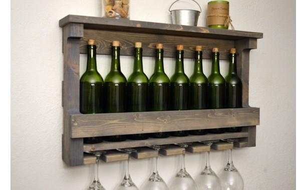Large Wine Rack Shelf Wall Bar Aftcra