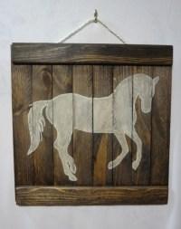 Horse Wall Art. Horse Wall Art Sticker. Golden Dame ...