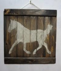 Rustic horse wooden wall art | aftcra