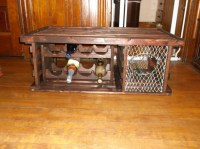 """Lobster Trap Coffee Table WINE RACK """"Made in Maine"""" 