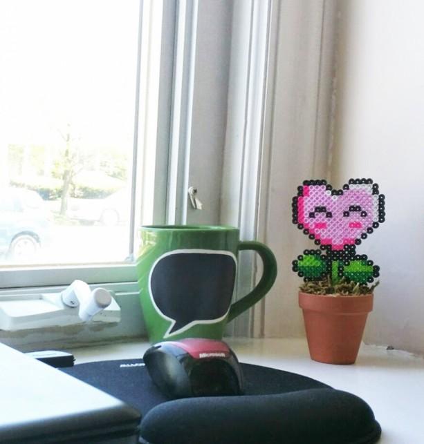 NES Potted Power Flower Desk Plants  aftcra