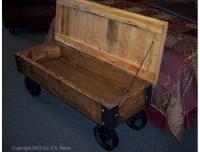 Cart Coffee Table Rustic Coffee Table With Wheels | aftcra