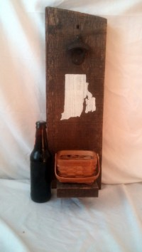 Wall Mounted Personalized Rustic Bottle Opener | aftcra