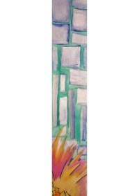 Watercolor painting, long and narrow wall art, pregnant ...