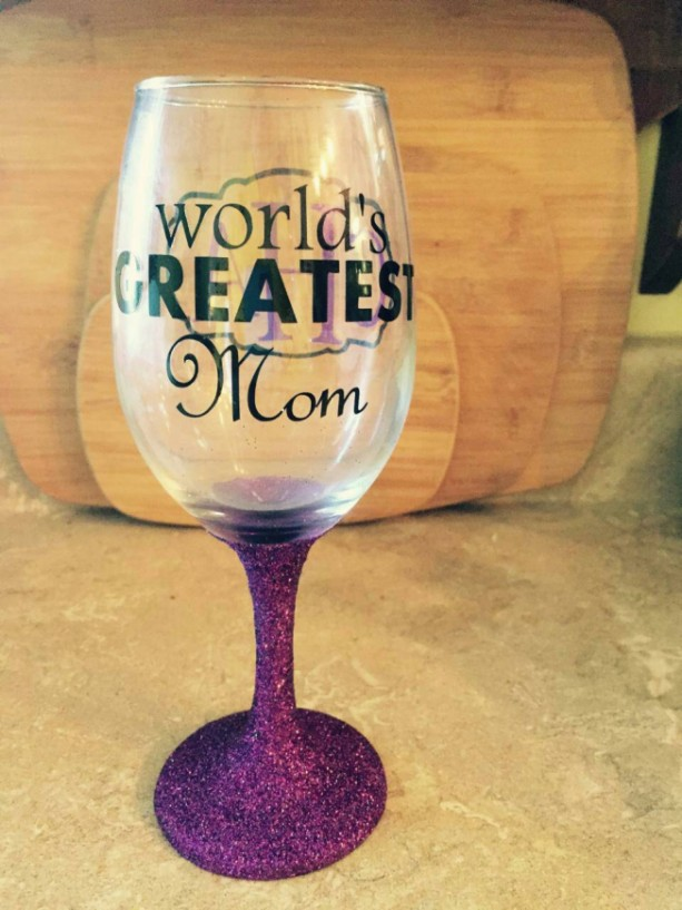 Personalized Wine Glasses Worlds Greatest Mom