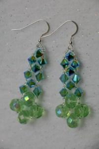 Dangle earrings - Swarovski crystal earrings - Beaded ...