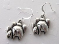 Elephant Earrings Baby and Mother Elephant Jewelry | aftcra