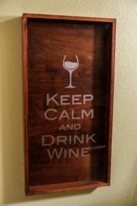 Large Wine Cork Holder - Handmade Shadow Box with KCDW ...
