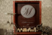 Monogrammed Wine Cork Holder Shadow Box | aftcra