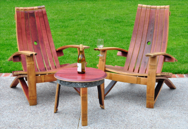 wine barrel chair kids saucer chairs adirondack aftcra