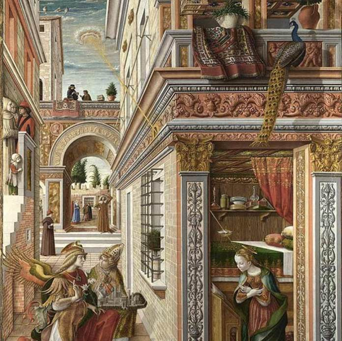 "Ufo nell'arte - Carlo Crivelli ""The annunciation with Saint Emidius"""