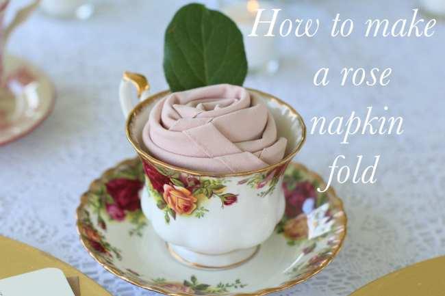 How To, Tutorial, Rose Napkin Fold