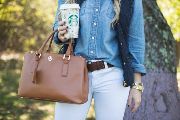 Afternoon Espresso-Blogger-Puffer Vest- J.Crew-White Denim-Joe's Jeans- Tory Burch Riding Boots-Ashley Pletcher9