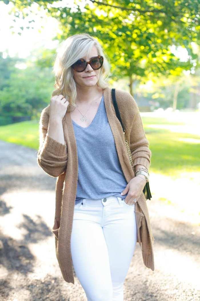 NSALE- Cozy Sweater - Fall wardrobe Transition - White Denim -5