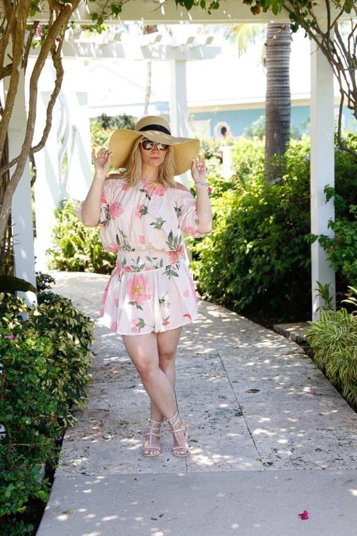 Plum Pretty Sugar - Off- the Shoulder- Beach Fashion - Sun Hat - Bahamas-1
