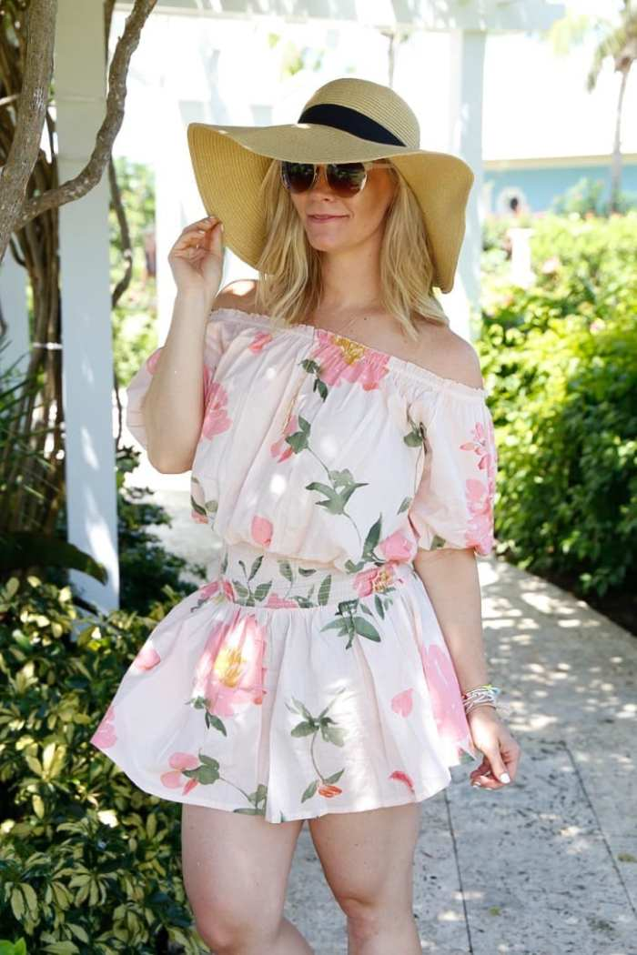 Plum Pretty Sugar - Off- the Shoulder- Beach Fashion - Sun Hat - Bahamas-3