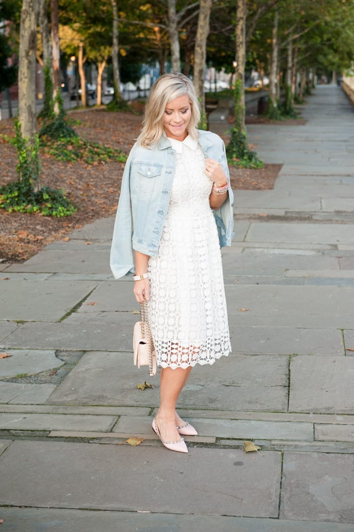 Blogger, Ashley Pletcher is off on a date night in her Chicwish dress that has the cutest collar.