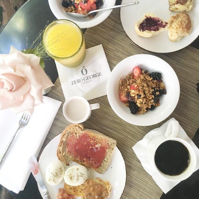The Best way to start the morning is a well rounded breakfast provided by luxury boutique hotel, Zero George.