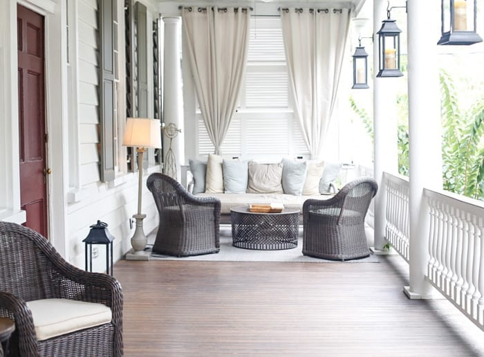 Ashley Pletcher enjoyed Zero George's beautiful verandahs for the the wine happy hours each night during her stay in Charleston, SC.