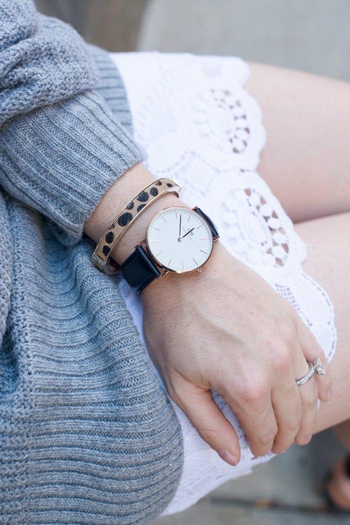 Blogger, Ashley Pletcher is swooning over her Daniel Wellington watch.