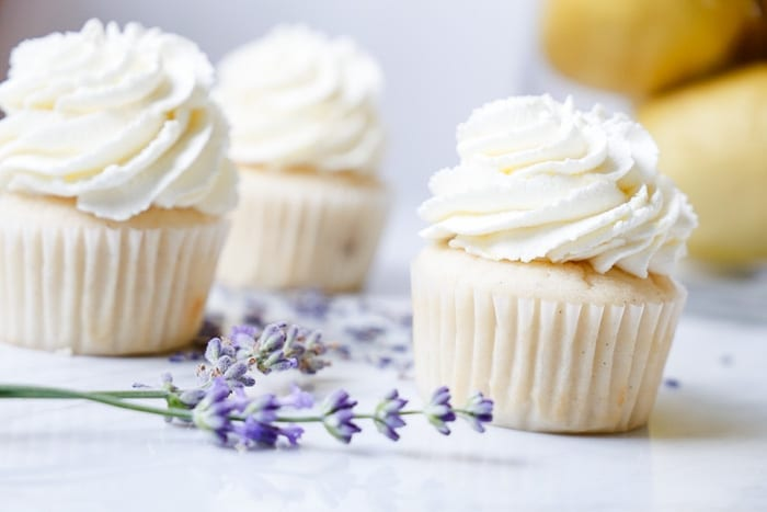 Ashley Pletcher of Afternoon Espresso uses lavender in her new luscious, lemon lavender cupcake recipe!