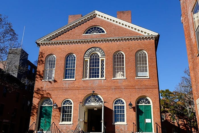Old Town Hall in Salem, MA is the location of the adult costume party in the movie Hocus Pocus